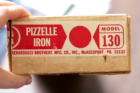 iron branding on cardboard box