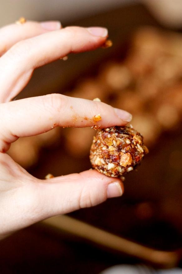 Hand holding sugar plum