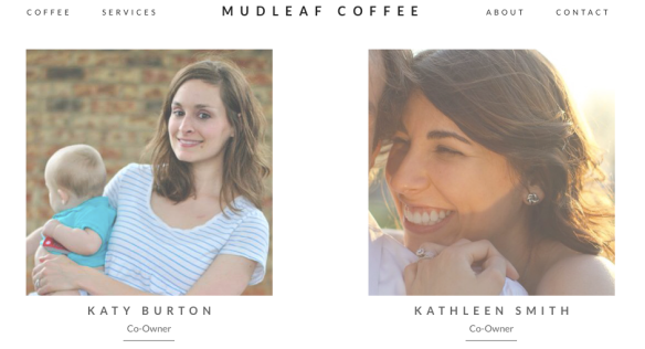 Katy and Kathleen, owners of Mudleaf