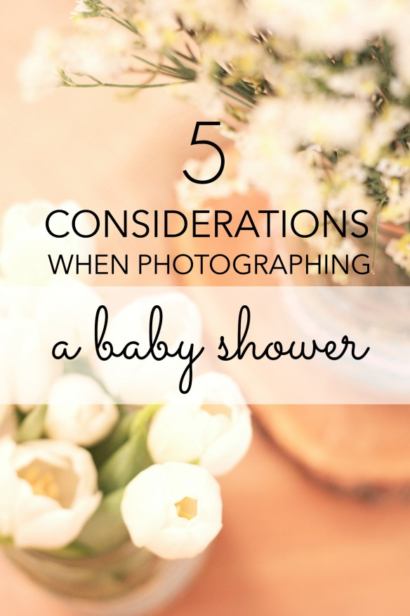 photographing a baby shower