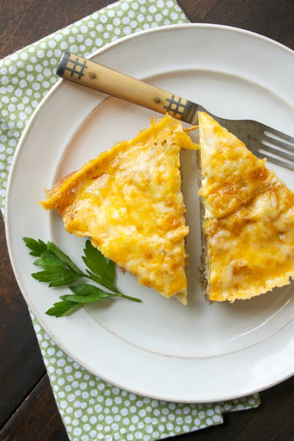 plain egg fritatta