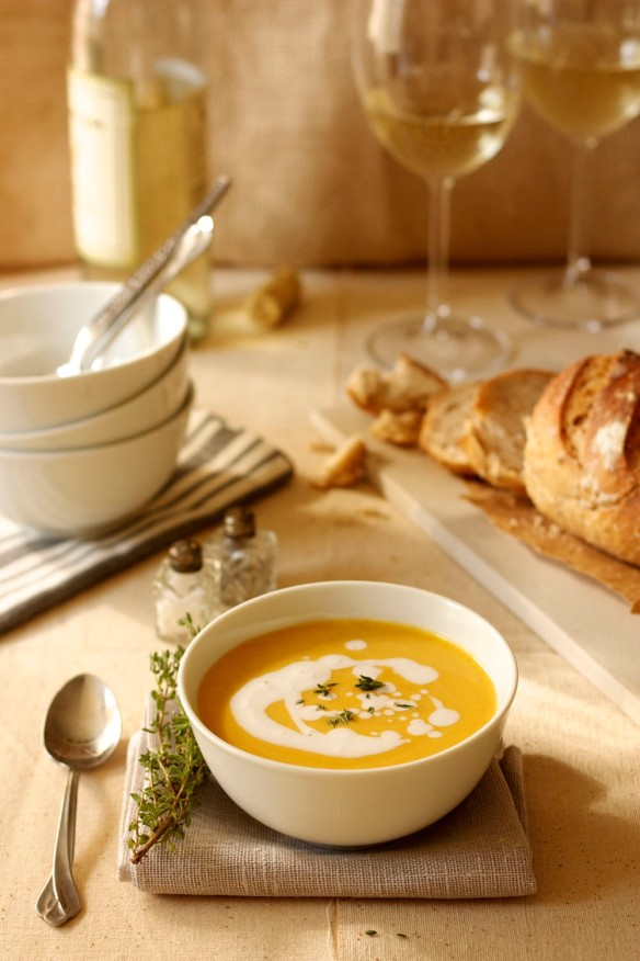 curried butternut squash soup with coconut cream (1)